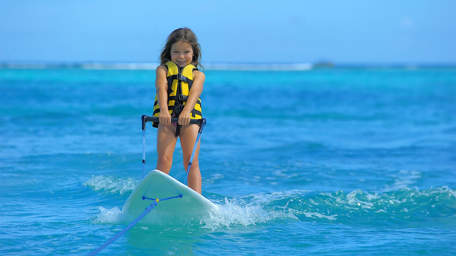 Family - Child Skiing - Water Sports - Royal Palm Mauritius